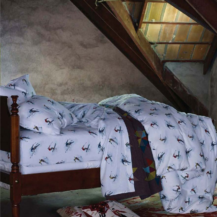 ski theme holiday bedding
